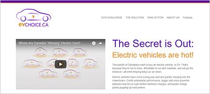 EV Choice website