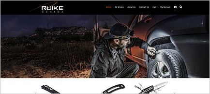 Ruike Knives Canada website