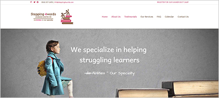 Stepping 4words website